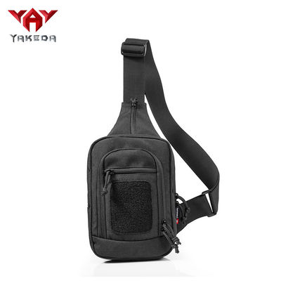 चीन Durable Black Nylon Tactical Sling Bag , Cross Body Gun Backpack आपूर्तिकर्ता